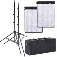 Für weitere Info hier klicken. Artikel: Dörr LED Flex Panel 2er Kit FX-4555 DL mit 2xLS+Tasche