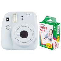 Fujifilm Sofortbildkamera Instax mini 9 + Instax Mini Film DP 2x10 Aufnahmen rauchweiß