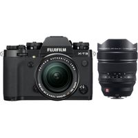 Für weitere Info hier klicken. Artikel: Fujifilm X-T3 + XF 18-55mm f/2,8-4,0 R LM OIS + XF 8-16mm f/2,8 R LM WR schwarz Fujifilm X