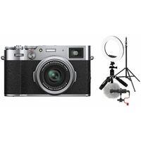 Für weitere Info hier klicken. Artikel: Fujifilm X100V Vlogger Kit für Anfänger silber