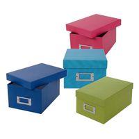 goldbuch Aufbewahrungsbox Bella Vista mit 8 Registrierkarten blau