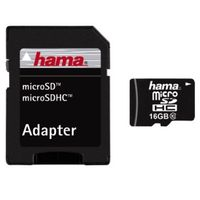 Hama Micro SDHC-Card C10 + Adapter 16 GB