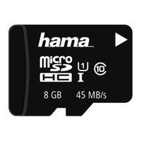 Für weitere Info hier klicken. Artikel: Hama microSDHC Class 10 UHS-I 45MB/s ohne Adapter/Mobile 8 GB
