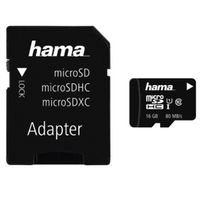 Für weitere Info hier klicken. Artikel: Hama microSDHC Class 10 UHS-I 80MB/s + Adapter/Mobile 16GB