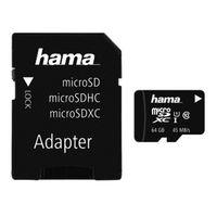 Für weitere Info hier klicken. Artikel: Hama microSDXC Class 10 UHS-I 45MB/s + Adapter/Mobile 64 GB