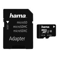 Für weitere Info hier klicken. Artikel: Hama microSDXC-Karte Class 10 UHS-I 80MB/s+Adapter/Foto 128 GB