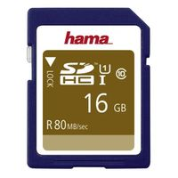 Hama SDHC Class 10 UHS-I 80MB/S 16 GB