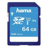 Für weitere Info hier klicken. Artikel: Hama SDXC, Class 10, UHS-I, U1, V10, 80MB/S 64 GB