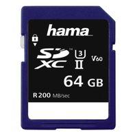 Für weitere Info hier klicken. Artikel: Hama SDXC Speed Class, UHS-II, U3, V60, 200 MB/s 64 GB
