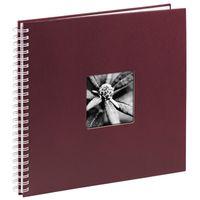 Für weitere Info hier klicken. Artikel: Hama Spiral-Album Fine Art, 36x32 cm, 50 weiße Seiten bordeaux