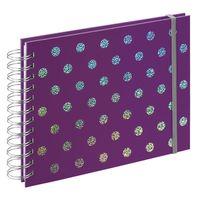 Für weitere Info hier klicken. Artikel: Hama Spiral-Album Twinkle, 24x17 cm, 50 weiße Seiten lila