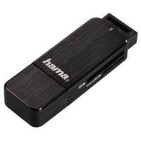 Hama USB-3.0-Kartenleser, SD/microSD, Alu schwarz