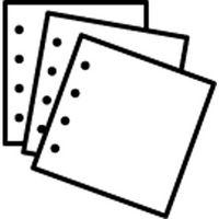 Ilford Ergänzungsblätter 29x31 10 Blatt weiß
