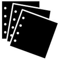 Ilford Ergänzungsblätter 38x38 10 Blatt schwarz