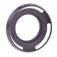 JJC Gegenlichtblende Alu Weitwinkel 37mm - z.B. für Panasonic 12-32mm oder Olympus M.Zuiko 14-42mm EZ (schwarz)
