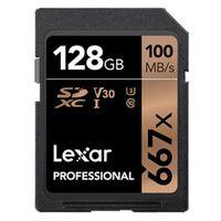 Für weitere Info hier klicken. Artikel: Lexar Professional, SDXC 667x, Class 10, UHS-I, U3, V30, 100MB/s 128 GB