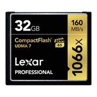 Für weitere Info hier klicken. Artikel: Lexar Professional CompactFlash 1066x UDMA7, 160MB/s 32 GB