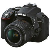 Nikon D5300 + AF-P DX 18-55mm VR + Tasche CF-EU11 + 16 GB SDHC Speicherkarte schwarz