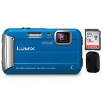 Für weitere Info hier klicken. Artikel: Panasonic DMC-FT30 + Hama Hardcase Colour Style 80M + 16 GB Karte blau