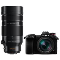 Panasonic Lumix DC-G9 + Leica DG Elmarit AF 12-60mm f/2,8-4,0 OIS + AF 100-400mm OIS DG Apsh Micro Four Thirds schwarz