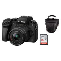 Für weitere Info hier klicken. Artikel: Panasonic Lumix DMC-G70 + AF 14-42mm OIS Vario + Hama Tasche Astana 110 + SanDisk SD-Karte 16GB