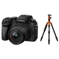 Für weitere Info hier klicken. Artikel: Panasonic Lumix DMC-G70 + AF 14-42mm OIS Vario + Rollei C5i Carbon Stativ orange