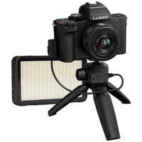 Für weitere Info hier klicken. Artikel: Panasonic Lumix DC-G110 + AF 12-32mm + Stativ-Griff + Godox LED M150