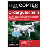 Für weitere Info hier klicken. Artikel: S+M Ordergutschein Drohnen / Copter Plakette