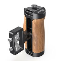"Für weitere Info hier klicken. Artikel: SmallRig 2913 Wooden Mini Side Handle (1/4""-20 Screws)"