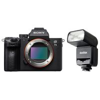 Für weitere Info hier klicken. Artikel: Sony Alpha 7 III (ILCE-7M3) Gehäuse + Godox Blitz Speedlite TT350