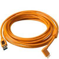 Für weitere Info hier klicken. Artikel: Tether Tools TetherPro SuperSpeed USB 3.0 an USB 3.0 Micro-B - 4,6 Meter, rechtsgewinkelter Stecker orange