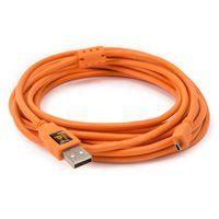 Tether Tools TetherPro USB-Datenkabel für USB 2.0 Typ A an USB 2.0 Mini-B (8-Pin) - 4,6 Meter Länge orange