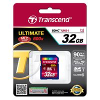 Transcend SDHC-Card UHS-I / 600x 32 GB