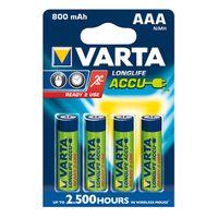 Varta Akku AAA Micro Ready2Use 800mah 4er-Pack