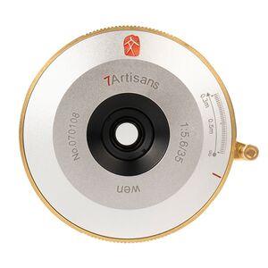 Für weitere Info hier klicken. Artikel: 7Artisans 35mm f/5,6 WEN Pancake siber Leica M