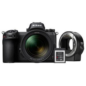 Für weitere Info hier klicken. Artikel: Nikon Z7 + Nikkor Z 24-70mm f/4,0 S + FTZ Objektivadapter + 64GB XQD Karte