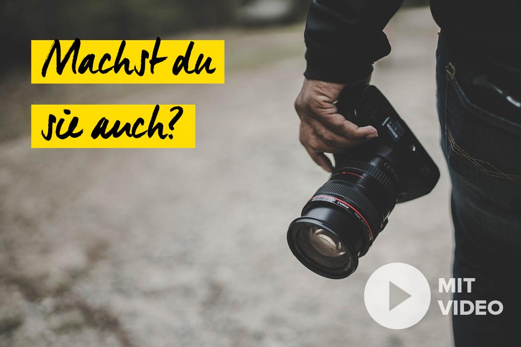 Fehler Fotografen