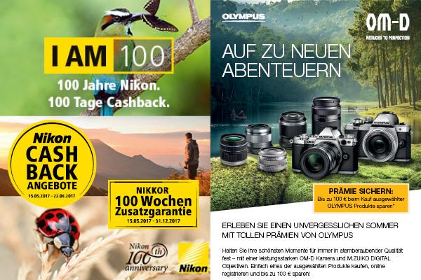Cashback Nikon und Olympus