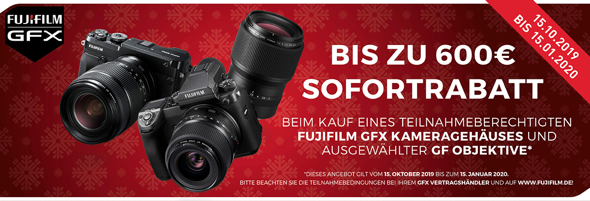 Fujifilm GFX Winter Sofortrabatt