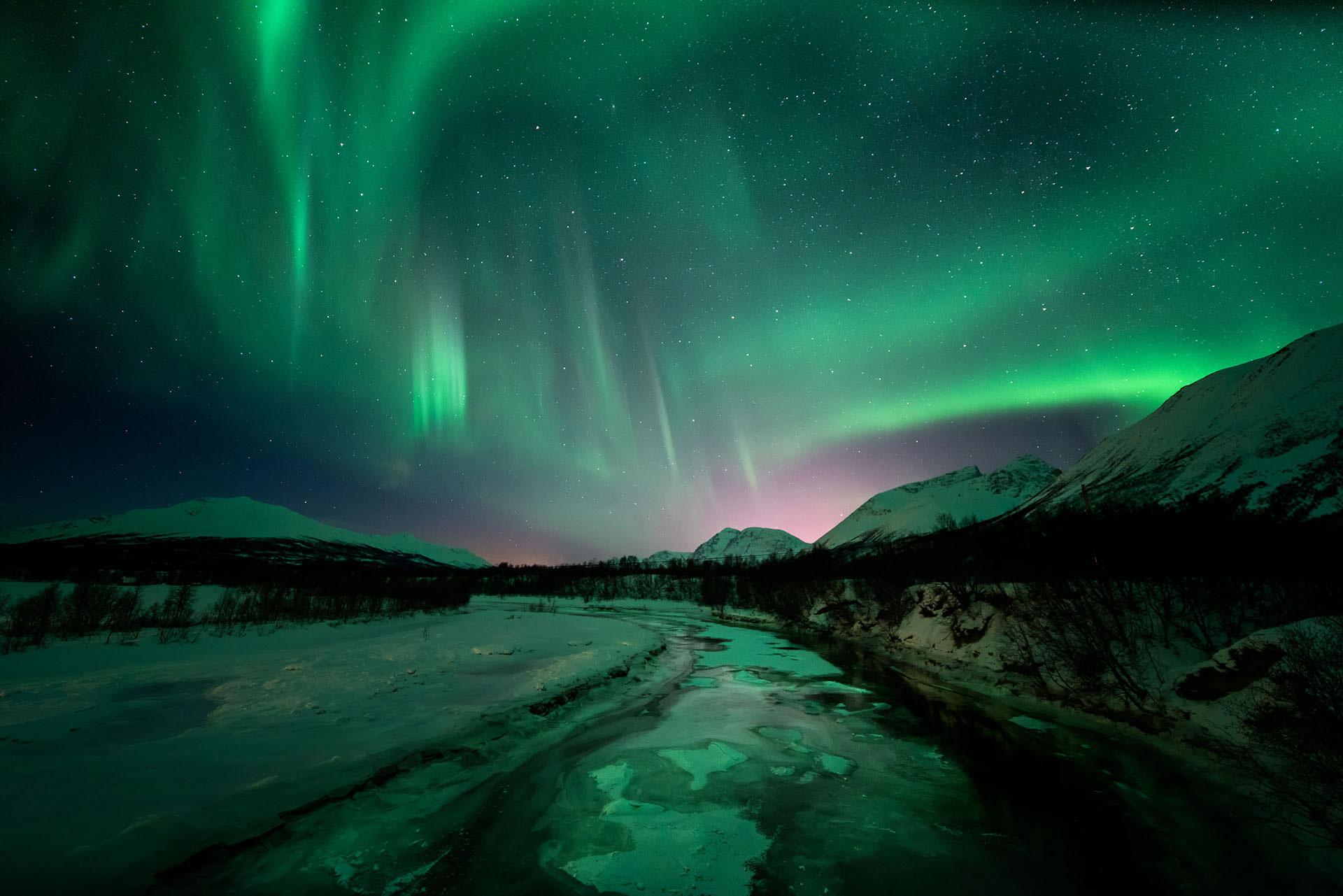 Antarktis Nordlichter