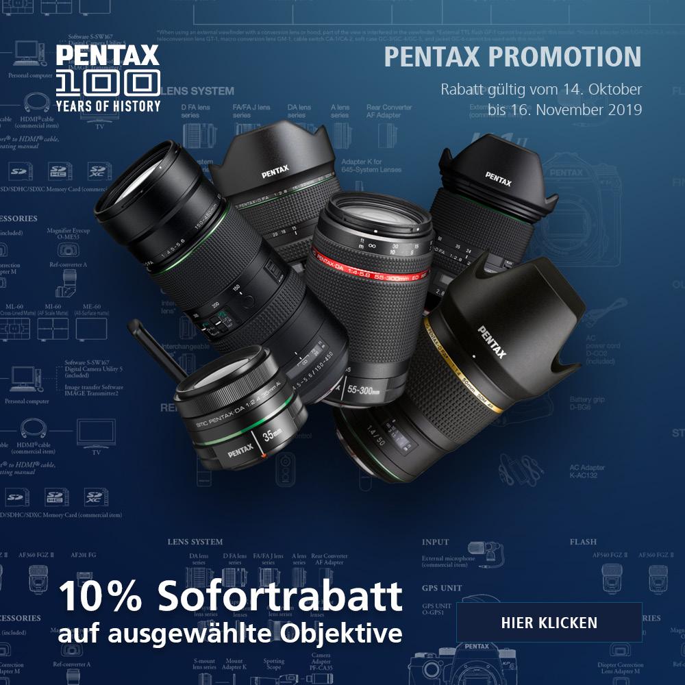 Pentax Objektiv Sofortrabatt Oktober 2019
