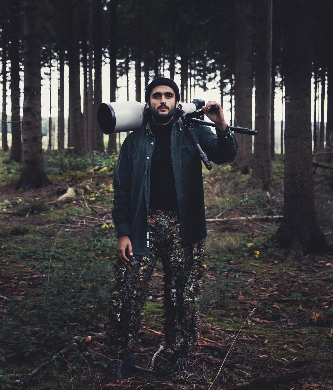 Mann im Wald