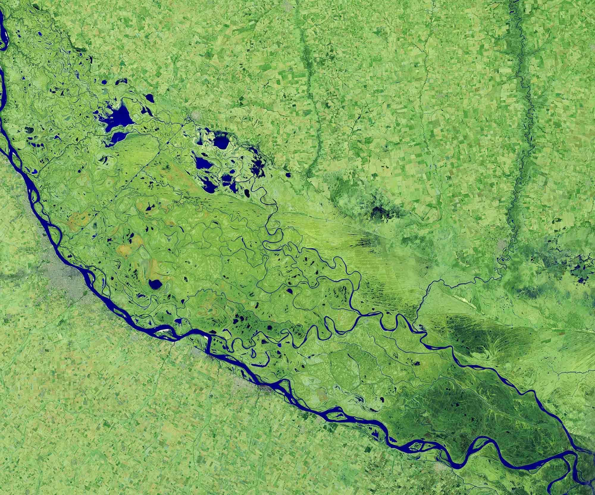 Argentinien Parana-Fluss 2020 / Earth Observatory NASA