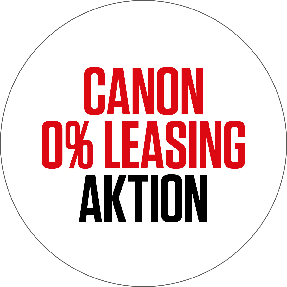 Canon 0% Leasing