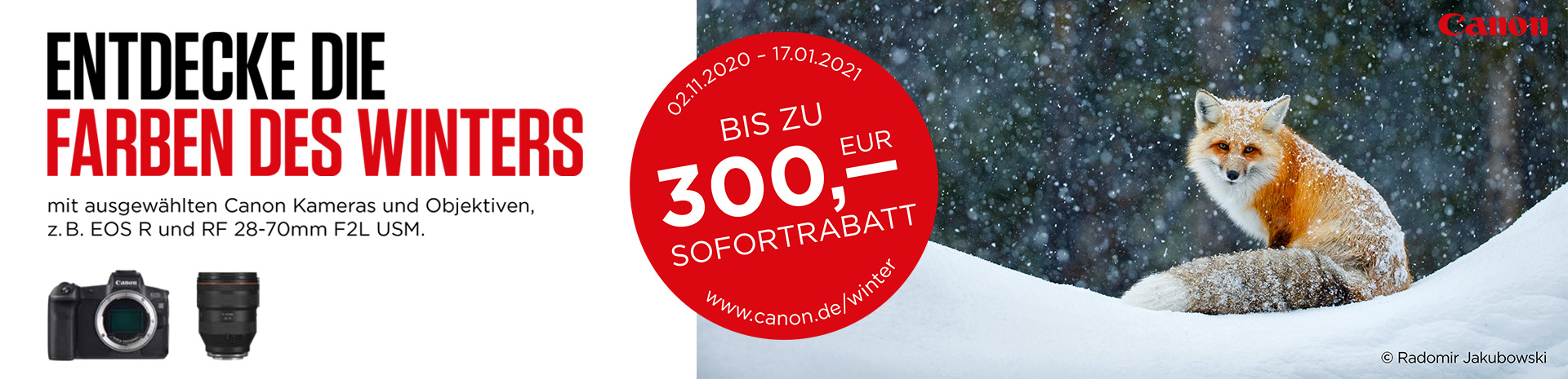 Canon Winter Sofortrabatt Aktion