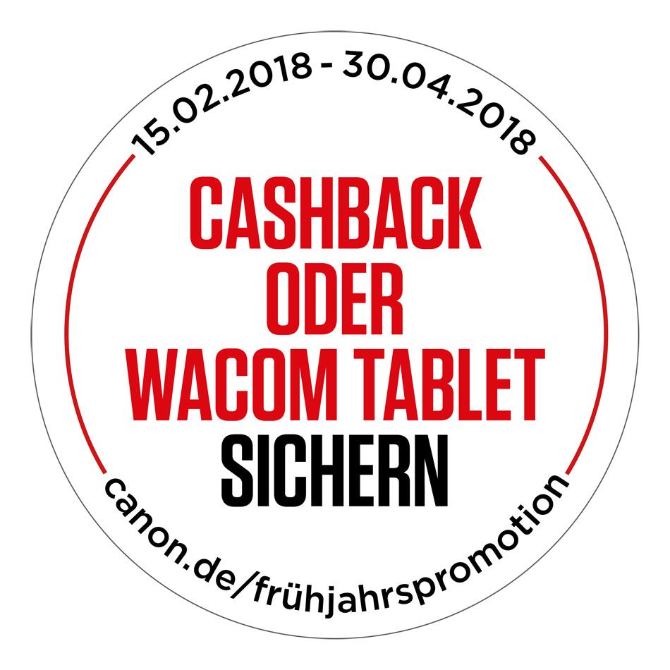 Cashback oder Wacom Tablet