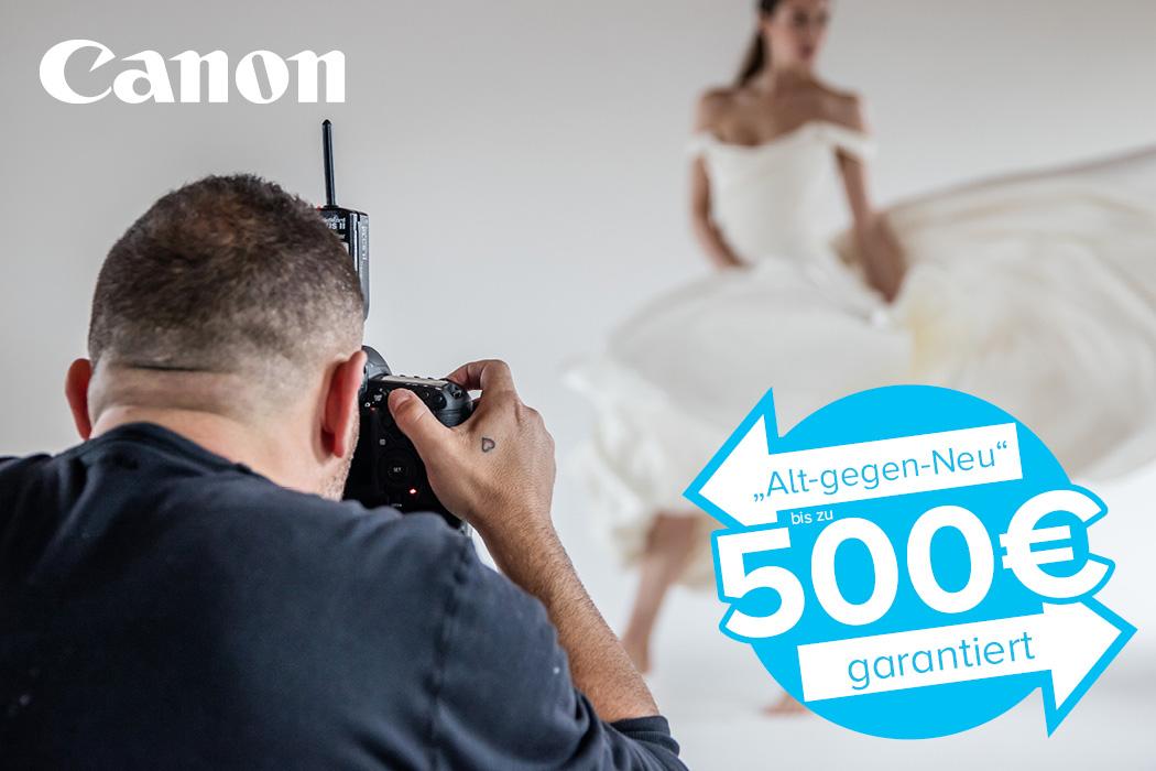 Canon Alt gegen neu Aktion EOS 5D Mark IV und EOS R