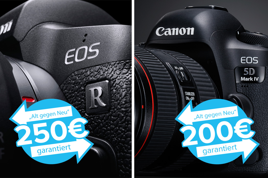 Canon EOS R + EOS 5D Mark IV Trade-in Aktion