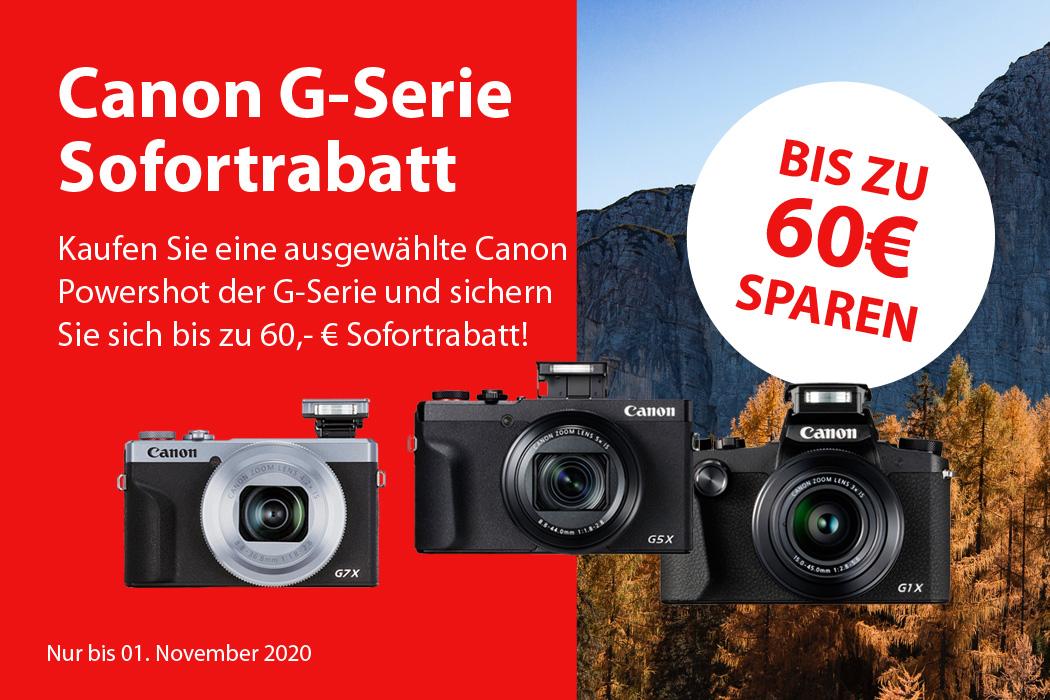 Canon G-Serie Sofortrabatt
