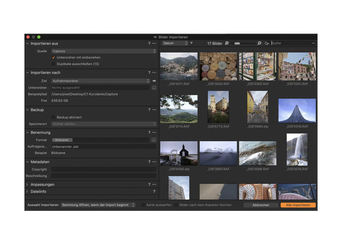 Capture One Import